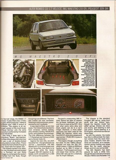Alfa Romeo 33 1.7 Veloces vesus rivals group test 1987 (4) | Flickr ...