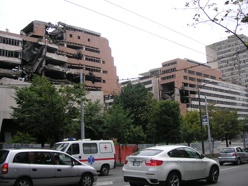 Buildings left as they are after bombings