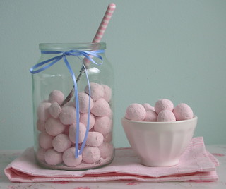 Strawberry bonbons jar