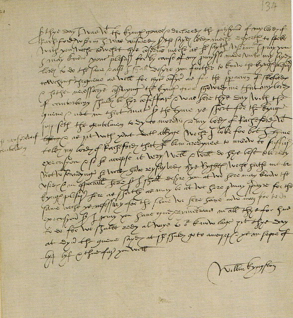 Letter detailing Anne Boleyn's time in the Tower prior to her execution, May 1536