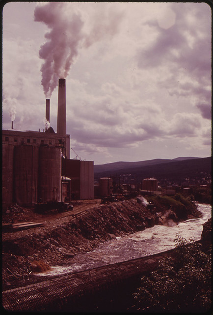 Mills of the Brown Paper Company in Berlin, on the Androscoggin River 06/1973 by Charles Steinhacker.