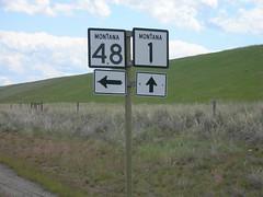 Montana Highway Signs