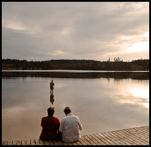 lake man reflection nature water canon landscape eos peace sweden jesus creative tourist tourists romantic conversation