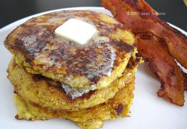 cheddar, bacon, cornmeal pancakes 2 3-1-2009 10-19-26 AM 1600x1200