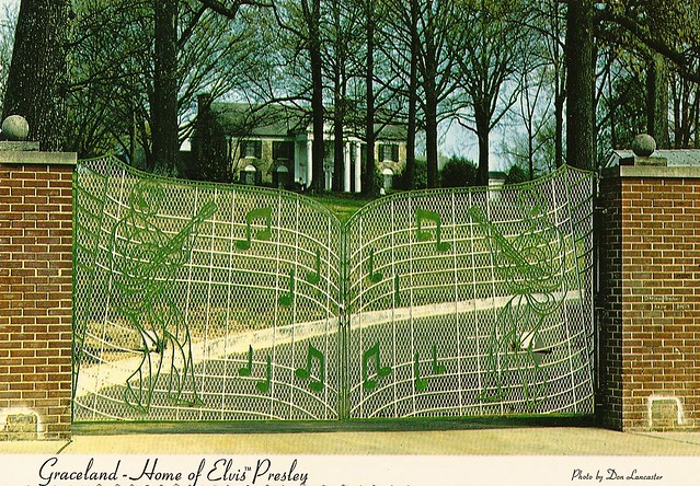Gates at Graceland ~postcard   Flickr - Photo Sharing!