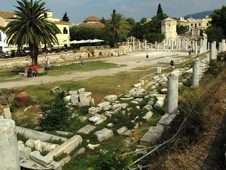 Image of Roman Agora near Athens. greek athens greece