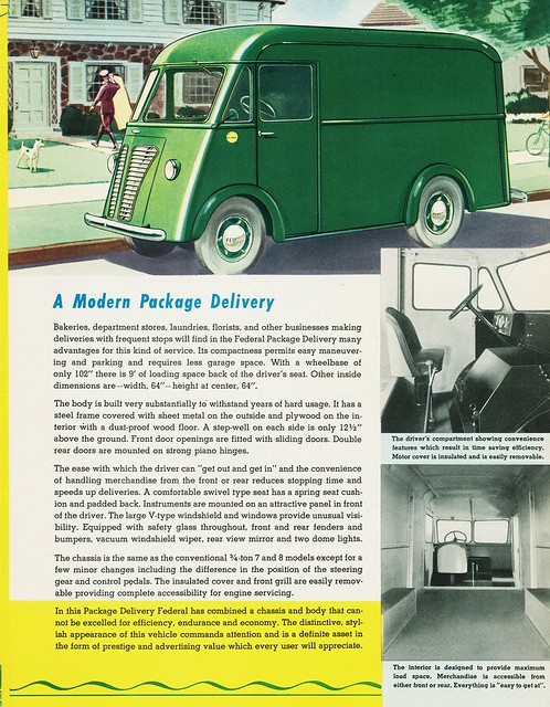 1939 Federal Package Delivery Truck Flickr Photo Sharing