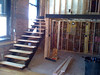 Pink Fog Open Tread Steel Stair