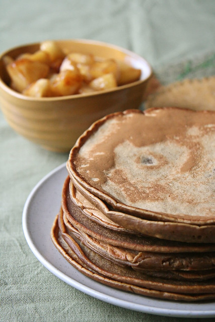 Gingerbread Pancakes w/ Chunky Apple Compote | Flickr - Photo Sharing!