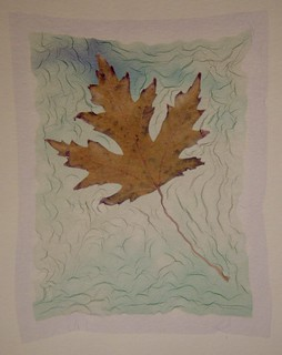 Silver Maple Leaf : Polaroid emulsion lift by John Fobes