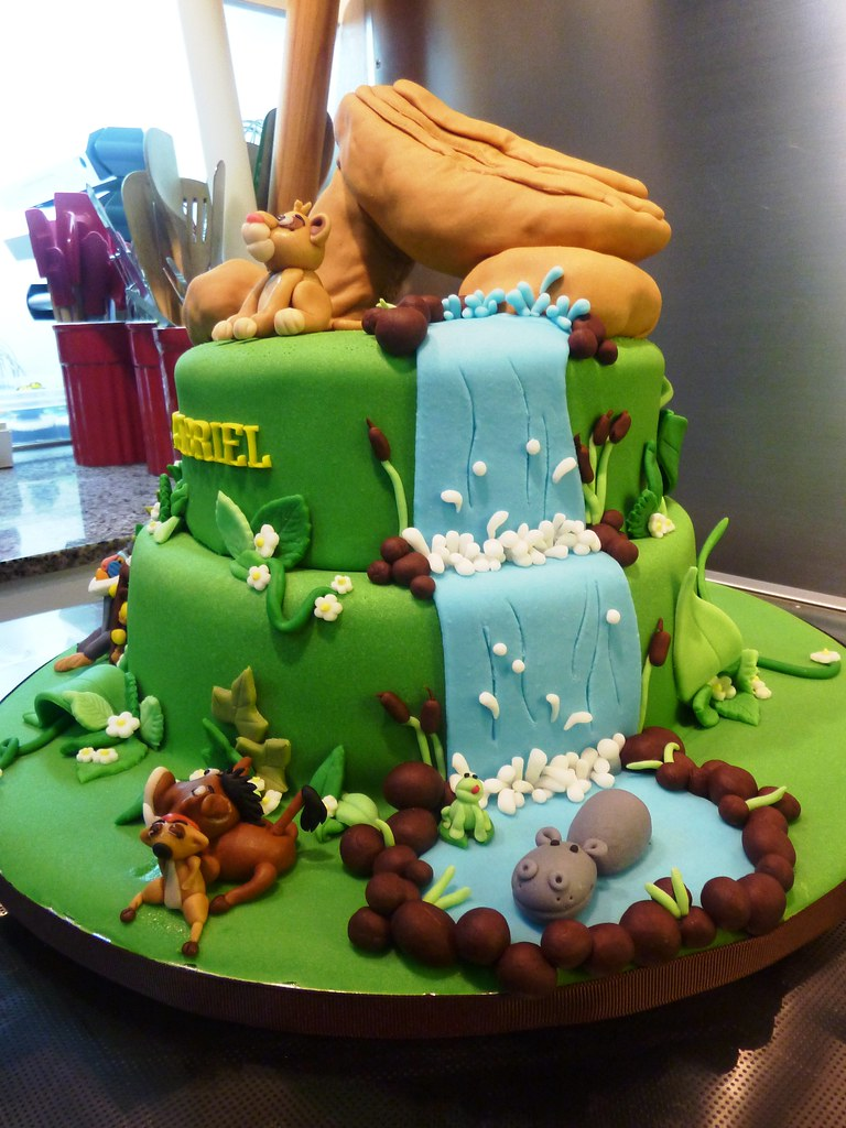 Pin Lion King Themed Baby Shower Cake By Gen Cakesdecorcom