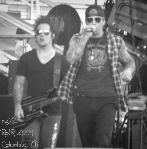 Synyster Gates and M. Shadows   Flickr - Photo Sharing!