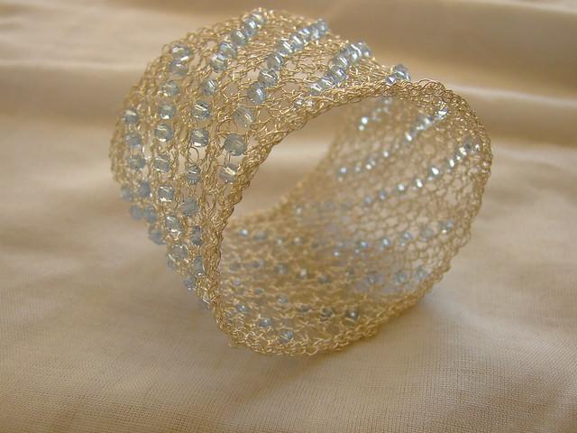 Wire Crochet Bracelet Class - Bead & Pearl