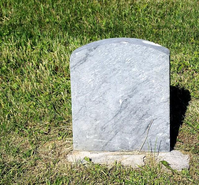 blank tombstone   Flic...