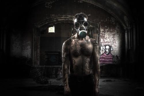 Tattoo madman in Hellingly asylum