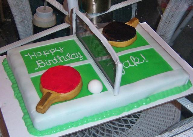 Pickleball Birthday Cake