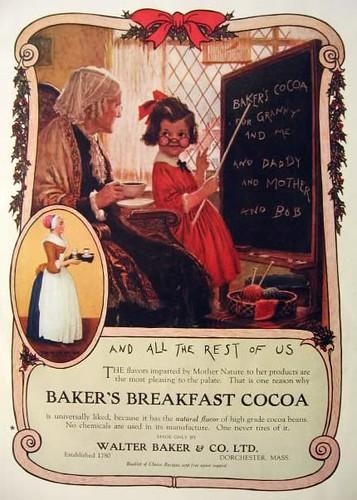 1922 Baker's Cocoa Ad