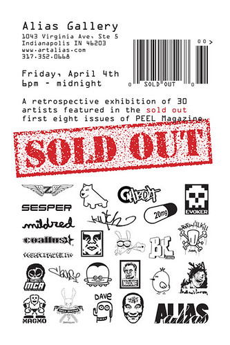 PEEL SOLD OUT Flyer