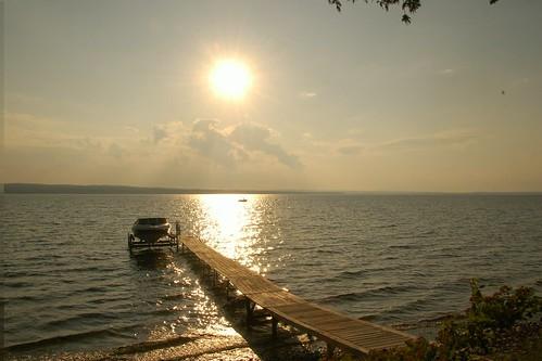 sunset lake water clouds mi boat timelapse video dock michigan nikond50 indianriver dirtysensor burtlake