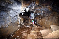 jeff, teagan & heather inside the ice cave lava tube…