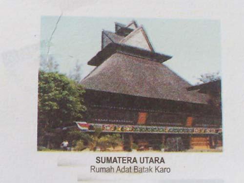 rumah adat batak karo (sumut)