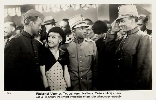 Roland Varno, Truus van Aalten, Dries Krijn en Lou Bandy in Het meisje met de blauwe hoed