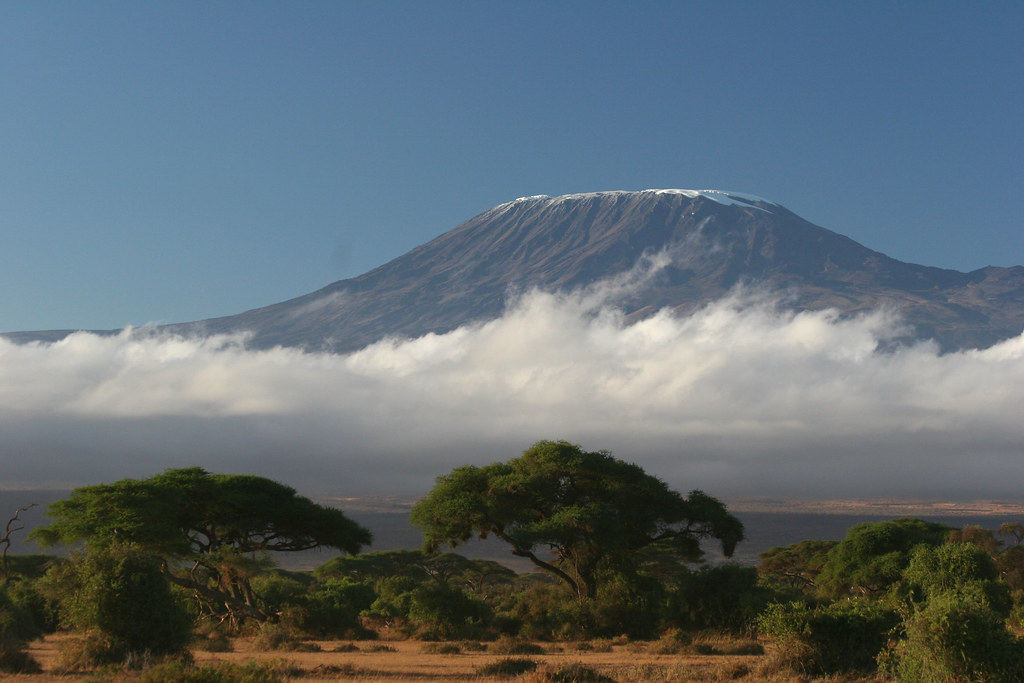 Clouds below Mt. Kilimanjaro