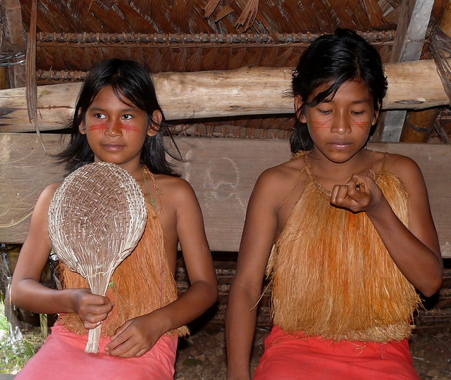 Yagua Tribe In The Amazon Jungle