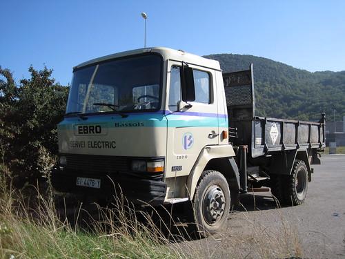 camió Ebro a Olot (La Garrotxa)