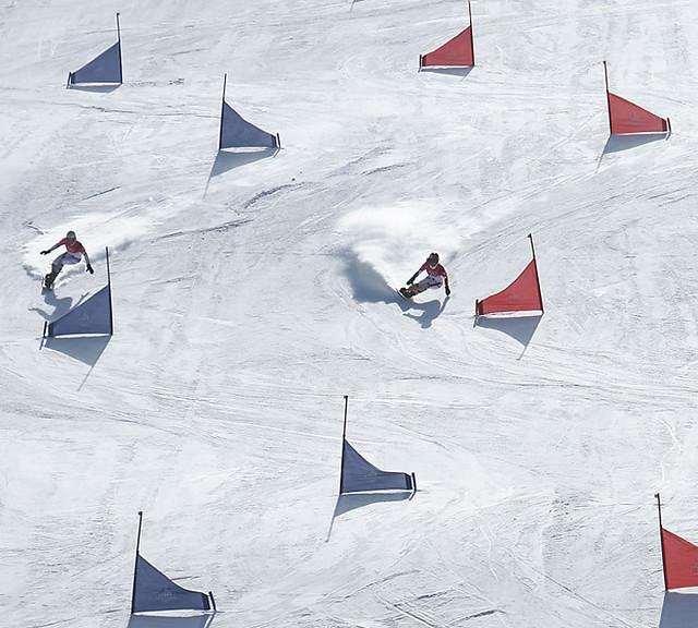 Snowboard Slalom Flickr Photo Sharing
