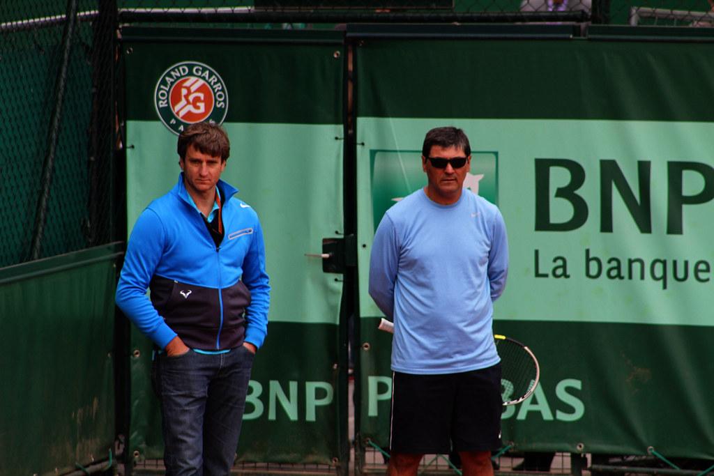 Carlos Costa and Toni Nadal