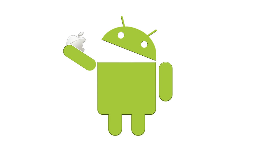Android eating Apple