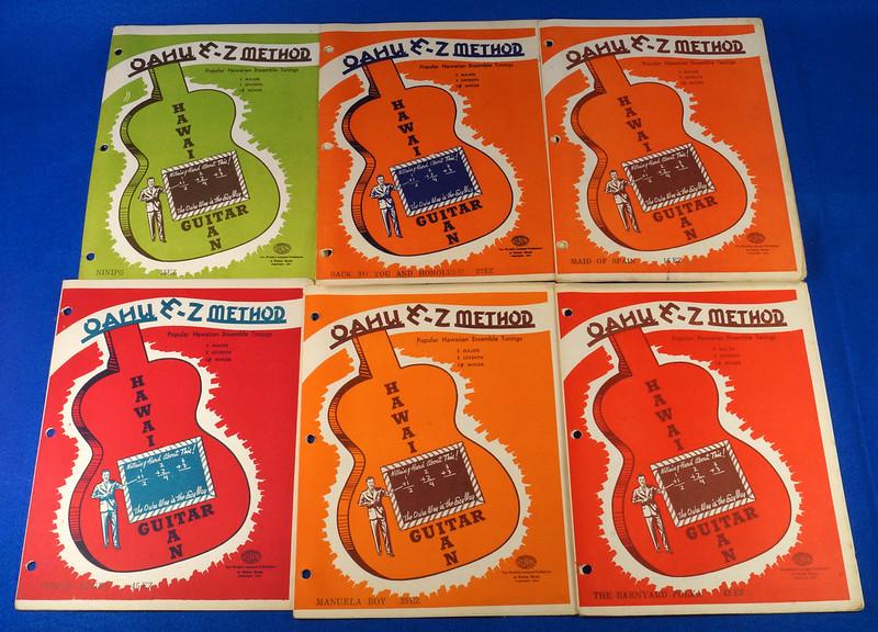 RD15283 40+ Sheet Music Booklets Oahu Publishing E-Z Method Hawaiian Guitar 1941 in Leather Notebook DSC09048