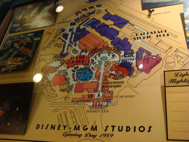 Disney-MGM Studios Opening Day Park Map 1989