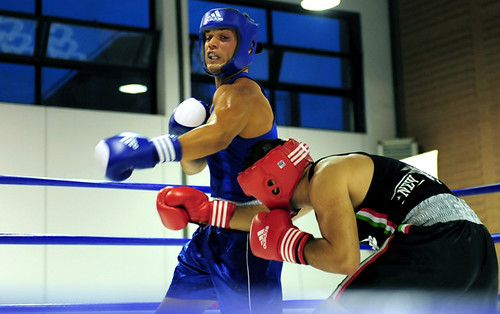 Davide at boxing tournament held in Latina (Rome) Italy ...
