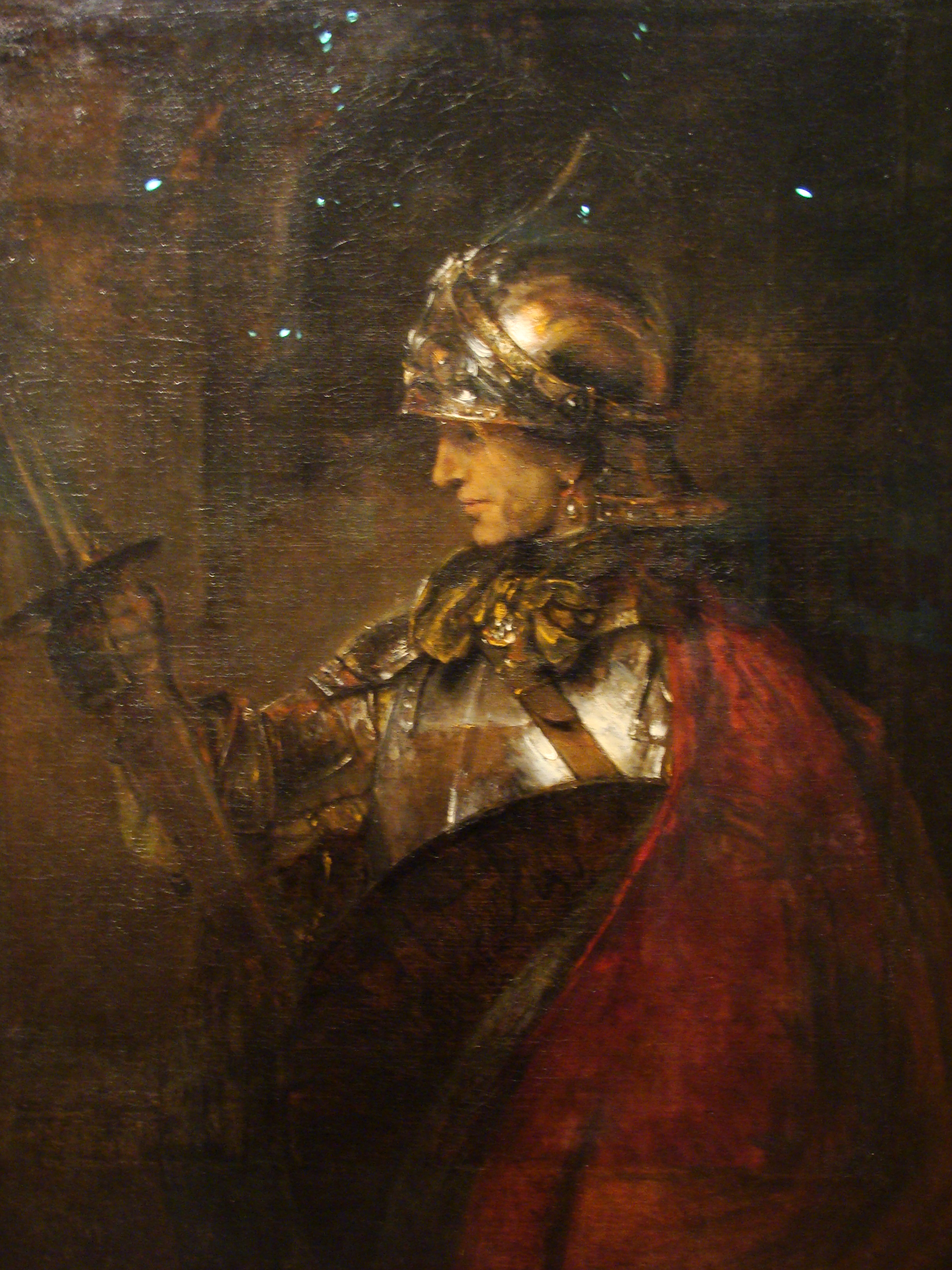 Rembrandt Painting Of Man In Armour Possibly Alexander