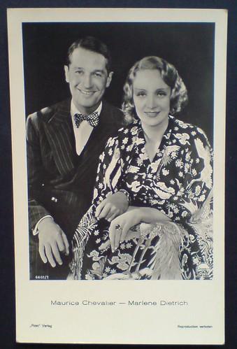 Marlene Dietrich Maurice Chevalier