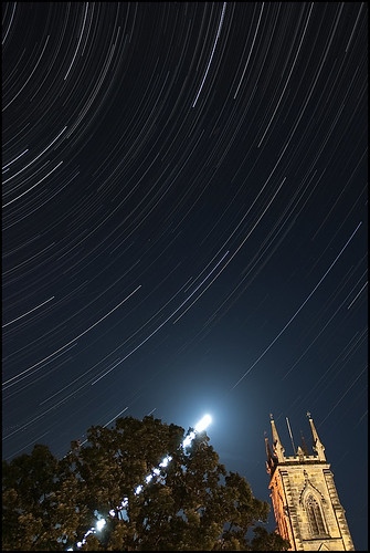 Star Trails over Trinity Church | by ankehuber