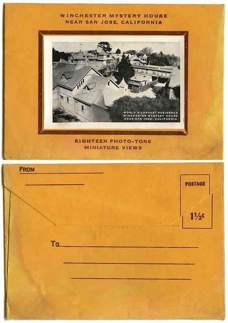 Winchester Mystery House envelope_1940s_tatteredandlost