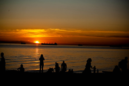 Sunset over english bay