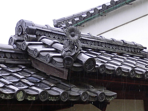 Roof in the rain