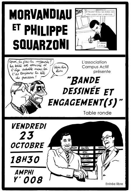 related image - flyer table ronde 23 octobre 'Bande Dessinée et Engagement'