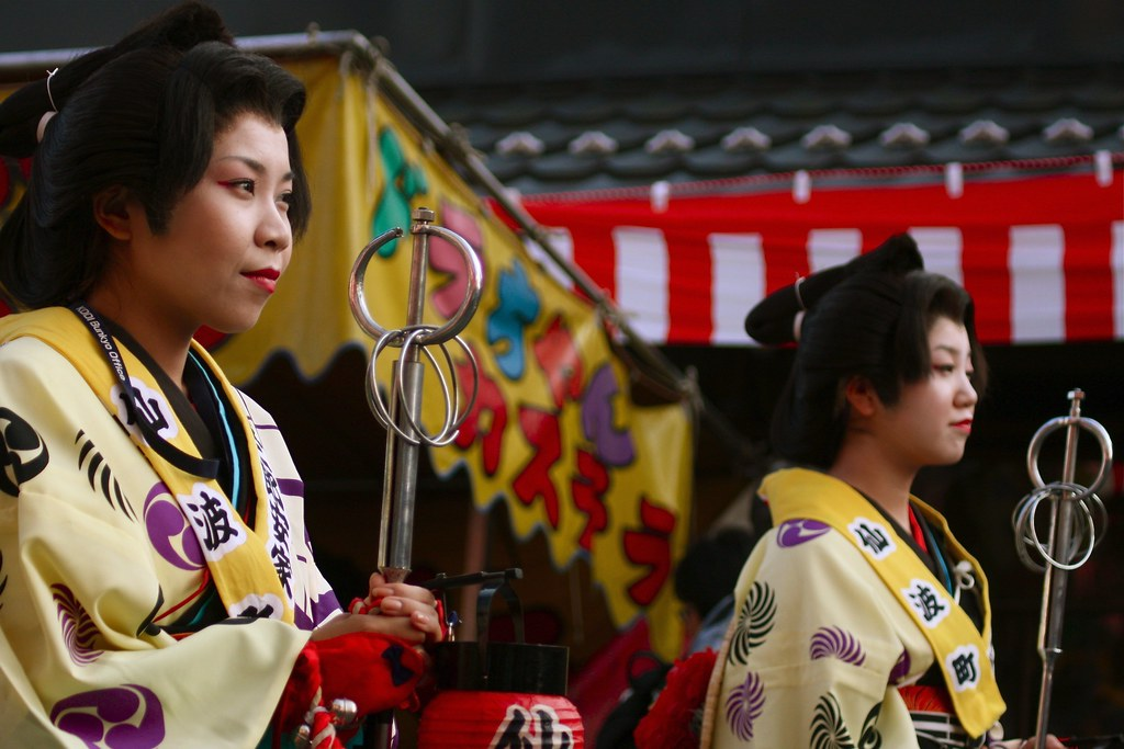 Ladies Parading At The Kawagoe Festival