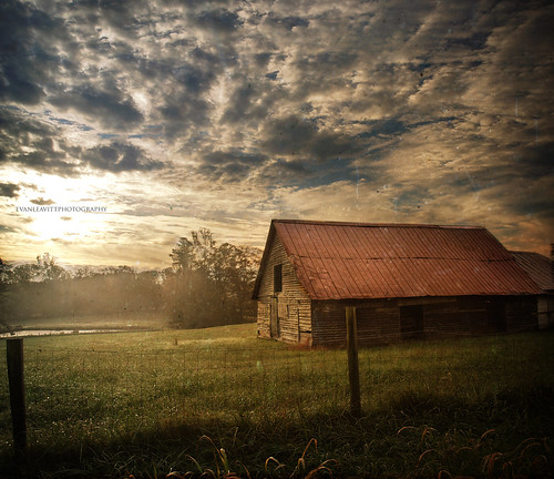 county wood morning autumn light sky texture beautiful clouds barn rural sunrise ga georgia amazing cool pond day darkness decay air country foggy olympus fresh weathered hdr barrow smells e510 photomatix waslookingforacoveredbridgeandallifoundwasthisbarn