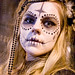DSC00777 - Skull Makeup - Black bindis and beads - Dia de los Muertos - Halloween (San Francisco) by loupiote (Old Skool) pro