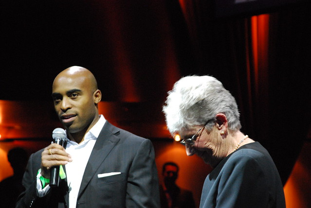 Tiki Barber and Sister Mary Alice
