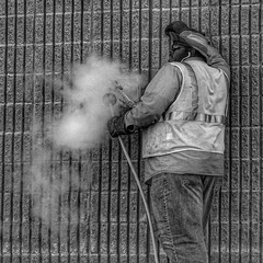 #DailyWorker 022317 pumping co2 into the Target. #ice #carbondioxide #CO2 #bnw #bw #bnw_society #bnw_captures #monochrome #blackandwhite #bnw_just #bnwphotography #everything_bnw #cityphotography #twit #streetphotography #NuCO2