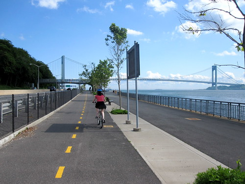 Biking the Promenade, Verrazano-Narrows Bridge, Brooklyn