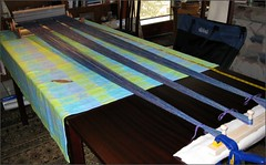 Ashford Knitter's Loom, second warping
