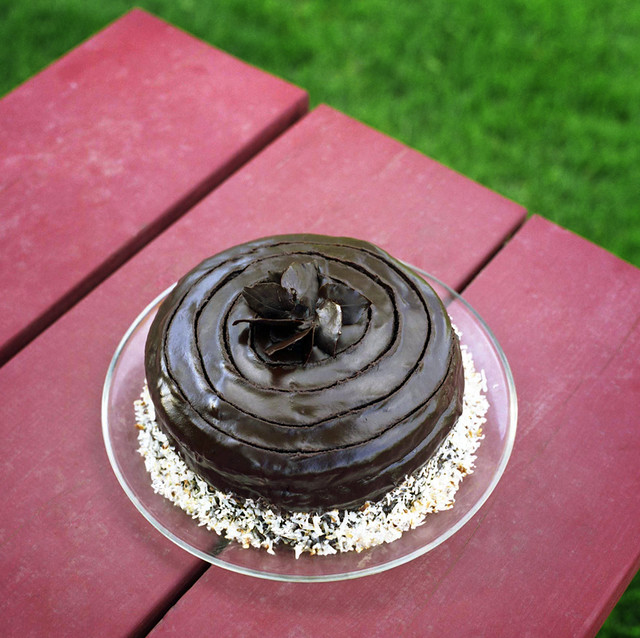 inside-out german chocolate cake | The name pretty much says ...